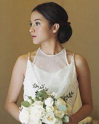 Cantiknya Putri Marino saat menikah dengan Chicco Jerikho.