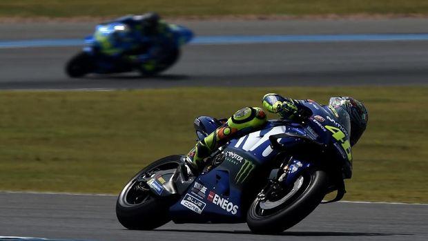 Valentino Rossi berhasil menguntit di posisi kedua FP1 MotoGP Qatar 2018.