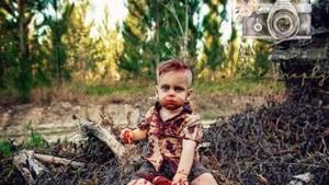 Cerita di Balik Photoshoot Bayi dengan Tema Zombie