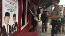 Posko PDIP di Sukabumi Dirusak Gerombolan Bermotor