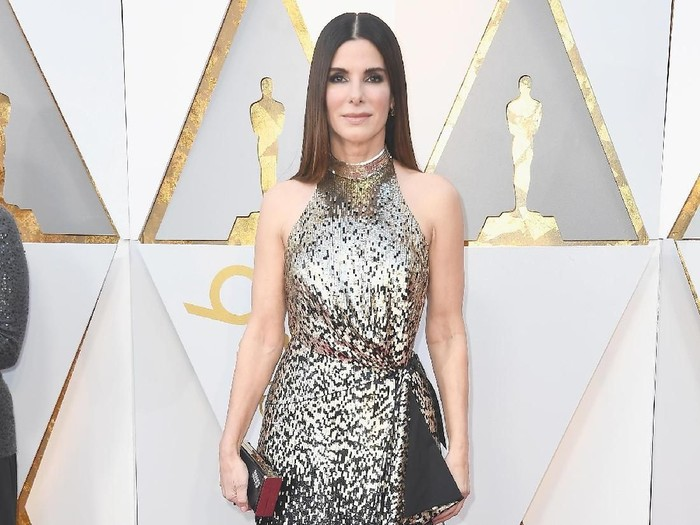 Sandra Bullock di Academy Awards 2018. Foto: Frazer Harrison/Getty Images