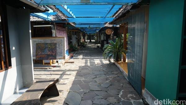 Pasar Seni terletak di kawasan Taman Impian Jaya Ancol, Jakarta Utara (Shinta/detikTravel)