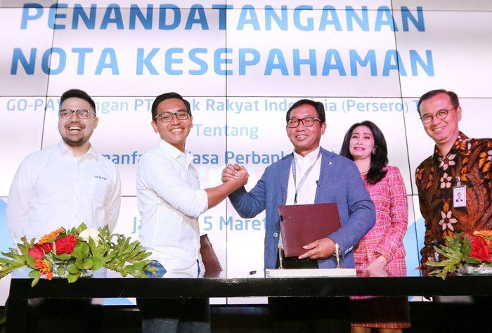 Bank BRI nantinya akan menjadi mitra GO-PAY dalam Penyediaan Jasa Perbankan di Jakarta, Selasa (5/3).Foto: dok. BRI