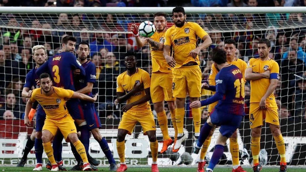 Tendangan Bebas Sensasional Messi Kalahkan Atletico