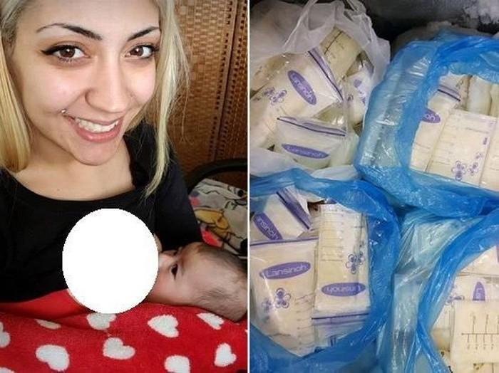 Rafaela menjual ASI-nya untuk para binaragawan. (Foto: Facebook)