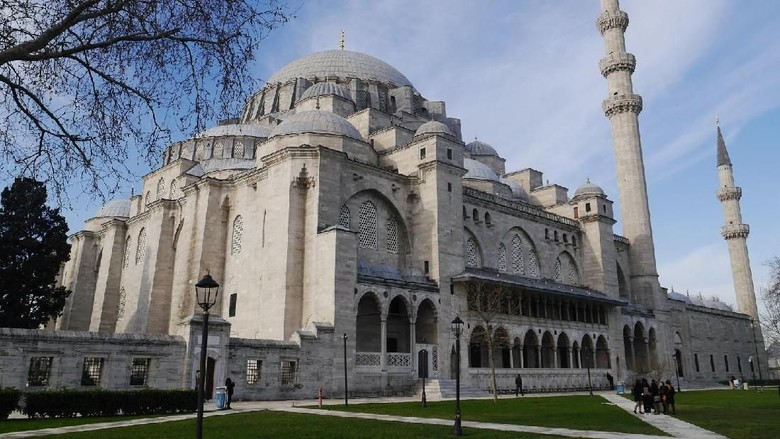 Masjid Suleymaniye di Istanbul, Turki (Kurnia/detikTravel)