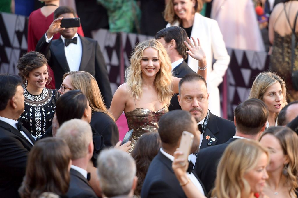 HOLLYWOOD, CA - MARCH 04: Jennifer Lawrence attends the 90th Annual Academy Awards at Hollywood & Highland Center on March 4, 2018 in Hollywood, California.  (Photo by Matt Winkelmeyer/Getty Images)