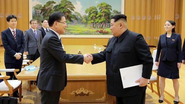 Setelah bertemu Kim Jong-un, pejabat Korsel menyebut Korut siap menghentikan uji coba nuklir dan berdialog dengan AS.