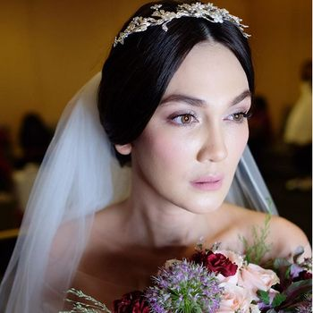 Artis Nikah Nggak Pakai Bulu Mata Palsu, Jadi Tren Makeup Pengantin?