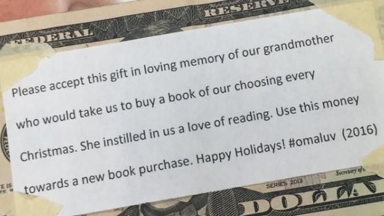 Cerita Sisipan Uang di Buku dan Kenangan tentang Nenek/ Foto: Twitter/katiemorrison09