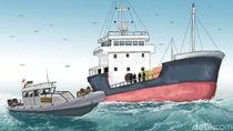 2 Kapal Nelayan Berbendera Malaysia Ditangkap di Selat Malaka
