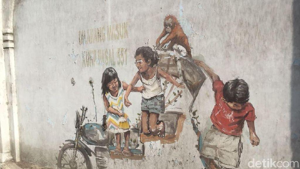 Mural Bikinannya Rusak, Seniman Dunia Zach Tetap Cinta Medan