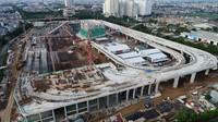 Depo akan dilengkapi dengan 3 jalur parkir kereta dan juga tempat pencucian kereta. Pool/Wijaya Karya.