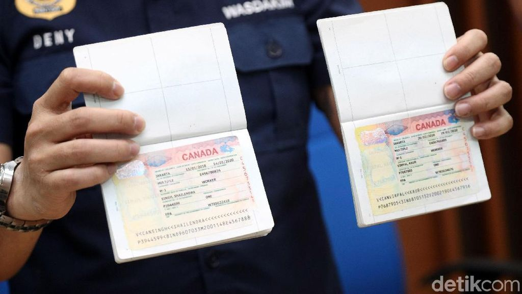Sindikat Pemalsu Visa Ditangkap, Ini Barang Buktinya
