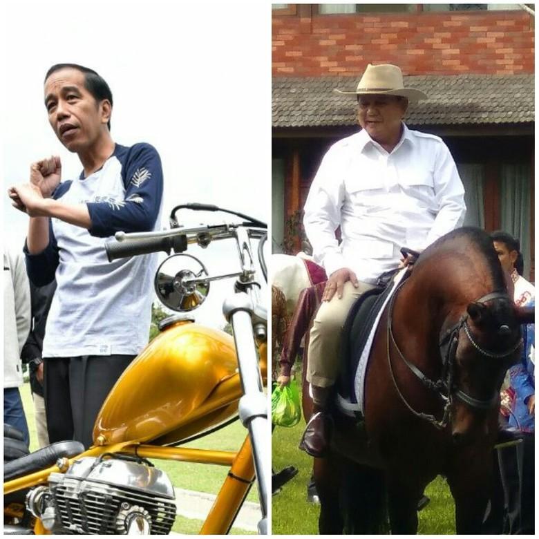 Balapan Jokowi 'Ngoweeeng' Vs Prabowo Berkuda