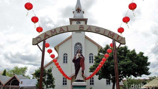 Ilustrasi Gerej Santo Fransiskus Asisi di Singkawang (Randy/detikTravel)
