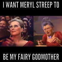 Pakai Gaun Merah di Oscars, Meryl Streep Mirip Ibu Peri dari Film 'Shrek'