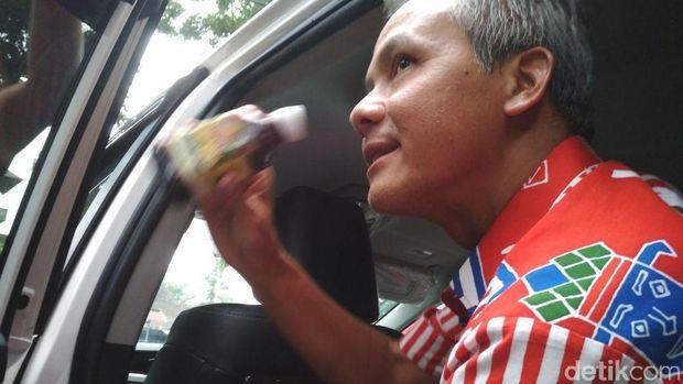 Ganjar Pranowo saat berada di Magelang sore ini.