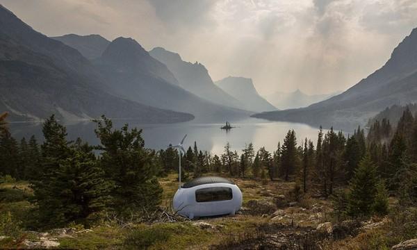 The Ecocapsule bisa dipindahkan kemanapun traveler mau. Bisa di tengah hutan, di tepi danau, atau ditarik seperti karavan. (The Ecocapsule)