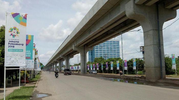 Proyek LRT Palembang/Foto: Raja Adil Siregar