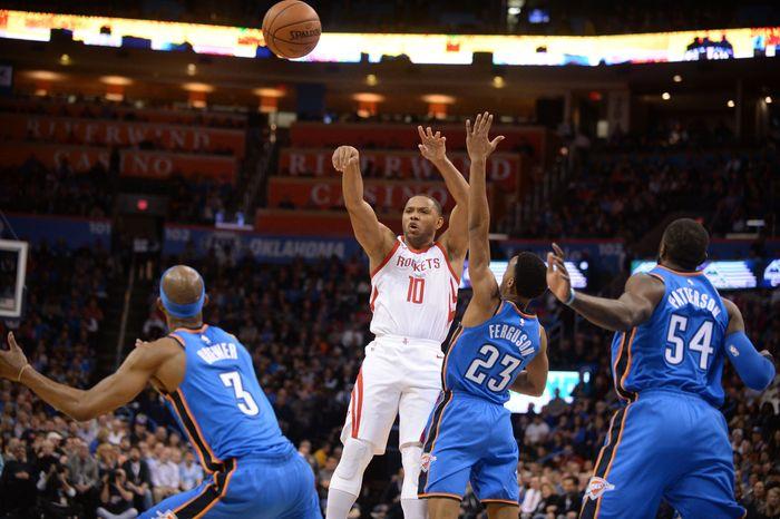 Houston Rockets belum terbendung, mengalahkan Oklahoma City Thunder di 122-112 di lanjutan NBA. (Foto: Mark D. Smith-USA TODAY Sports)