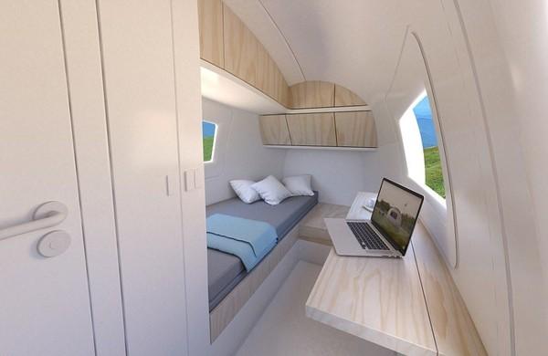 Desainnya simpel dan elegan. Yang lebih pentingnya lagi, rumah ini ramah lingkungan. (The Ecocapsule)