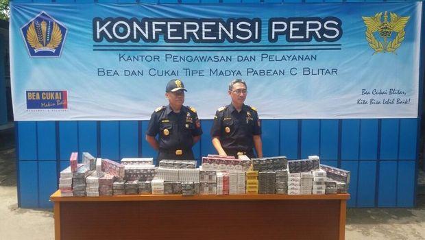 Ada 11.250.608 batang rokok ilegal yang dimusnahkan