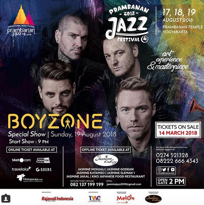 Bersama Boyzone, Prambanan Bakal Alunkan Lagi Jazz Tahun Ini