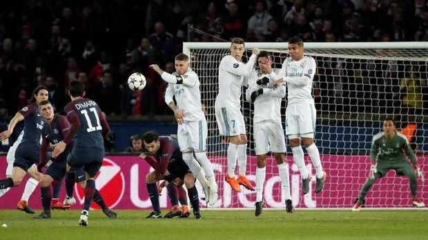 Real Madrid menggagalkan ambisi Paris Saint-Germain menjuarai Liga Champions musim ini.