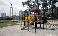 Lapangan Banteng yang makin nyaman dan dilengkapi berbagai fasilitas (Agung Pambudhy/detikcom)