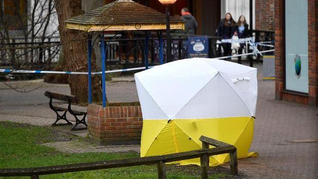 Lokasi serangan racun di Salisbury.