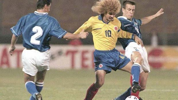 Carlos Valderrama merupakan bintang Kolombia di era 90-an.