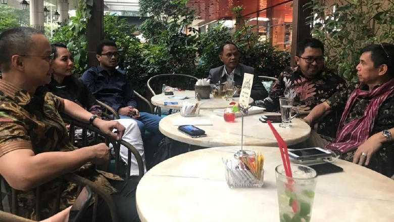 Foto: Demokrat-PKB-PAN Ngopi Bareng Bahas Poros Ketiga di Pilpres