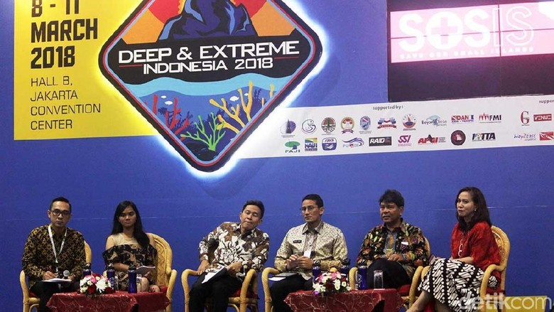 Suasana talkshow di Deep and Extreme 2018 (Randy/detikTravel)