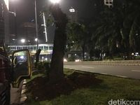 Pohon di Sudirman-Thamrin Mulai Dipindah Sejak Minggu Lalu