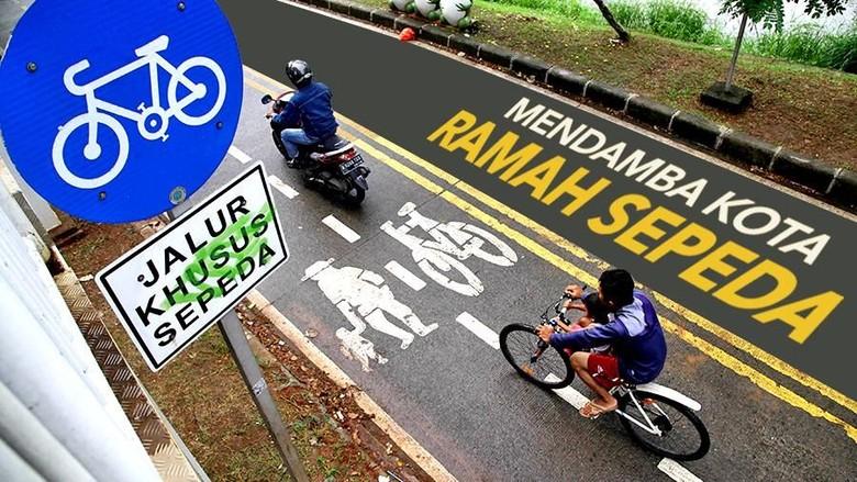 Ilustrasi mudik naik sepeda Foto: detikHealth