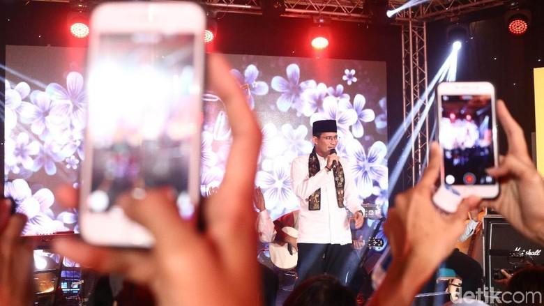Sandiaga Uno di acara dHOT Music Day 2018 (Rifkianto Nugroho/detikTravel)