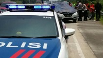 Insiden di Cipali, Mobil Polisi Terdorong dan Tabrak Lamborghini