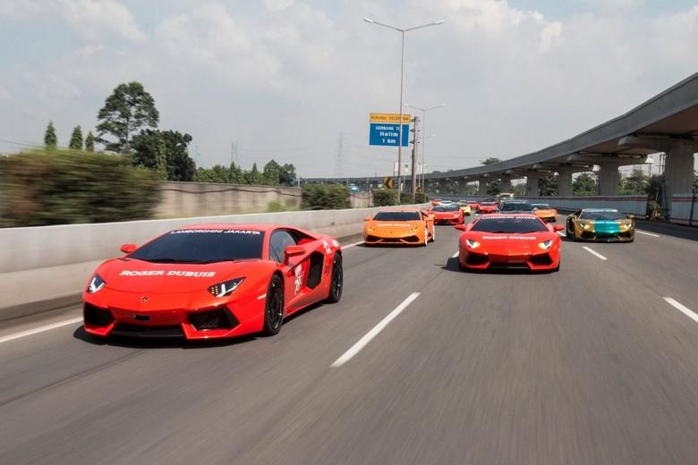 Komunitas Lamborghini Jakarta saat touring. Foto: dok. Lamborghini