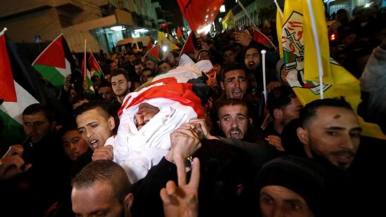 Ribuan Orang Antar Jenazah Pemuda yang Tewas Ditembak Tentara Israel