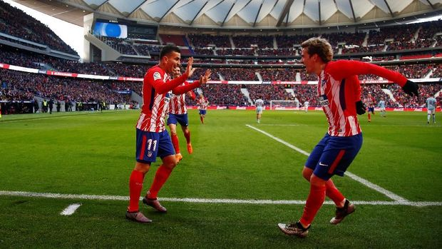 Atletico Madrid akan menghadapi Sporting Lisbons di perempat final Liga Europa. (