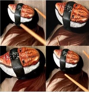 Wow! Make Up Artist Ini Menyulap Wajah dan Tangannya Jadi Makanan Enak!