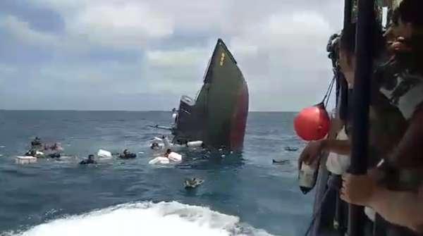 TNI Periksa Awak Kapal yang Tenggelam di Kepulauan Seribu