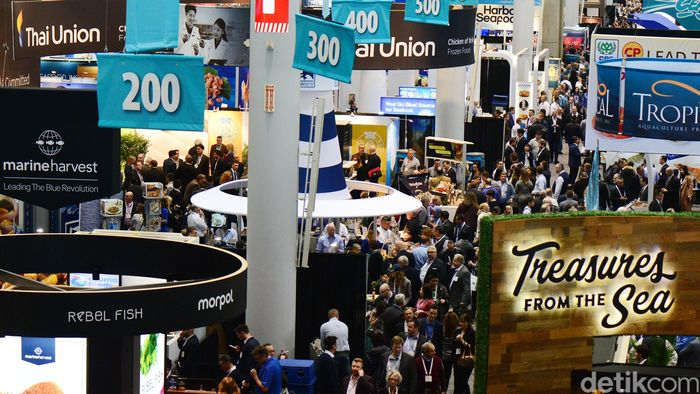 Seafood Expo North America berlangsung di Boston Convention & Exhibition Center, Amerika Serikat.