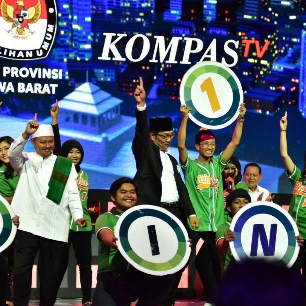 Survei Litbang Kompas: Ridwan Kamil Unggul Tipis dari Deddy Mizwar