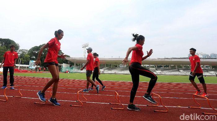 Timnas atletik belum bisa beradaptasi dengan SUGBK (Foto: Rengga Sancaya)