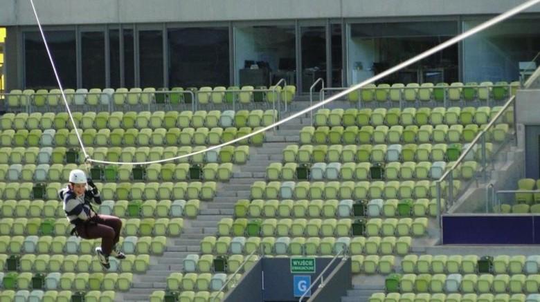Flying fox di Stadion Energa Gdansk (Stadion Energa Gdansk)