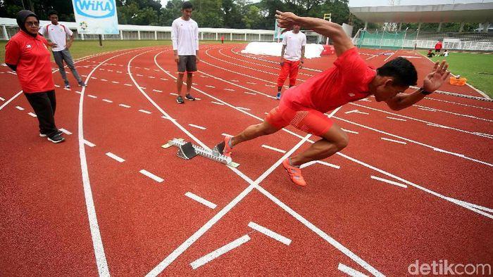 Para atlet cabang atletik terus menggenjot persiapan menjelang Asian Games 2018 (Foto: Rengga Sancaya/detikSport)