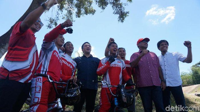 Tim BMX Indonesia akan mengikuti kejuaraan di Eropa pada bulan depan (Foto: Okdwitya Karina Sari/detikSport)