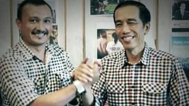 Ferdinand saat bertemu Jokowi dahulu.